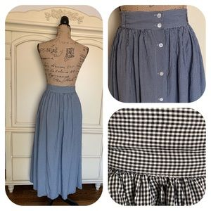Banana Republic Skirts - Banana Republic Vintage Gingham Button Front Skirt
